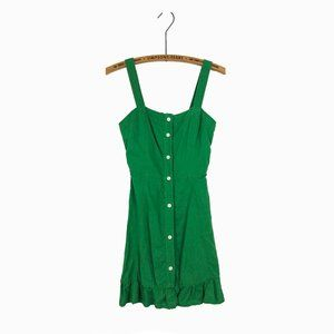 Zara Green Cotton Mini Dress